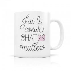 Mug, J'ai le cœur CHAT mallow