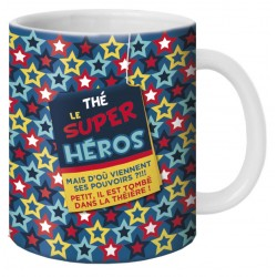 "Mug, Thé ""Le Super Héros"" by Puce & Nino"