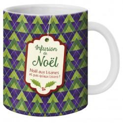 """Mug, """"Infusion de Noël"""" by Puce & Nino"""