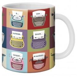"""Mug, """"Machines à écrire"""" by Lali & MG"""