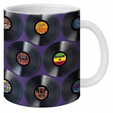 "Mug, ""Les vinyles"" by Lali & MG"