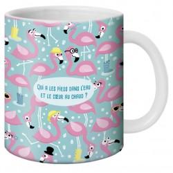 """Mug, """"Pieds dans l'eau et coeur chaud"""" by Lali"""