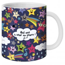 "Mug, ""Qui est la star des stars ?"" by Lali"