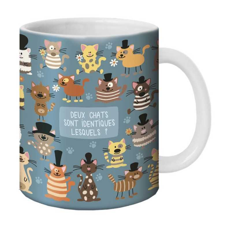 mug deux chats sont identiques lesqueles by lali. Black Bedroom Furniture Sets. Home Design Ideas