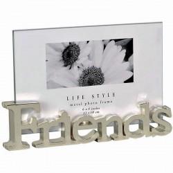 Cadre photo 10x15 Friends verre et métal argenté