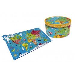 Puzzle carte du monde 150 pièces