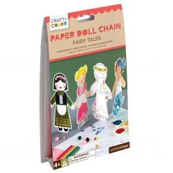 Guirlande de poupées à colorier