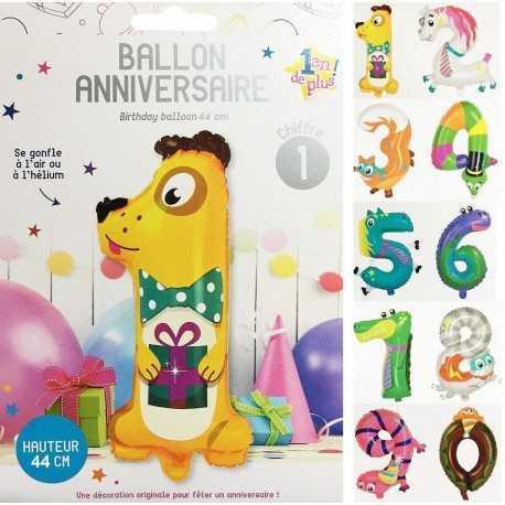 Ballon anniversaire chiffre pour enfant