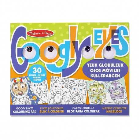 Bloc de dessin rigolo à colorier pour enfant