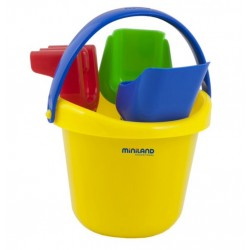 Baby beach bucket with shovels