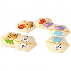 Domino illustré, jeux pour enfant, les animaux