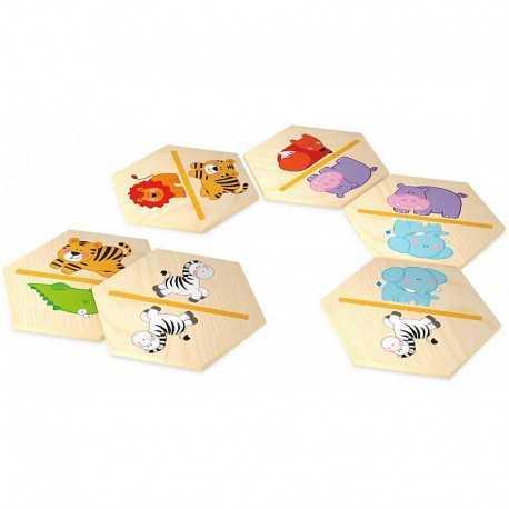 Domino illustré, jeux pour enfant