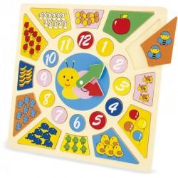 Puzzle horloge pour apprendre à lire l'heure