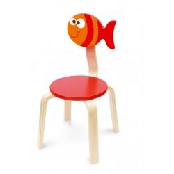 Chaise amusante pour enfant, Maurice le poisson