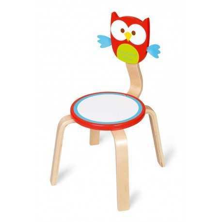 Chaise amusante pour enfant, Hibou Lou