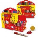 12 crayons de couleur maxi pour les plus petits