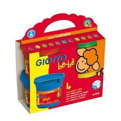 4 pots de gouache au doigt pour enfant