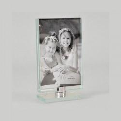 Cadre photo toupie en verre photo format vertical