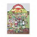 Repositionable relief stickers, Santa's workshop