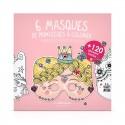 6 masques en papier pour enfant à colorier