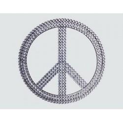 Peace & Love plaque déco strass