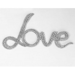Peace & Love plaque déco strass