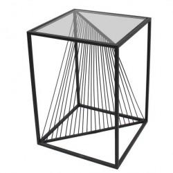 Console design noir métal