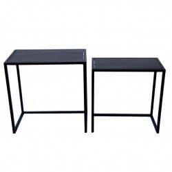 2 tables gigognes design noir métal