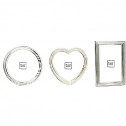 Set of 3 silver color photo frames