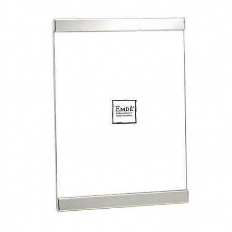 Cadre argent brillant lisse format 13x18 cm
