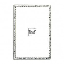 Picture frame shiny silver hammered size 10x15 cm