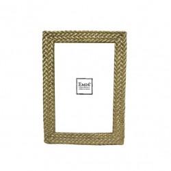 Cadre photo doré avec tressage format 10x15 cm