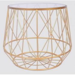 Table ronde doré filaire