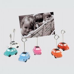 Lot de 6 clips porte photo Fiat 500