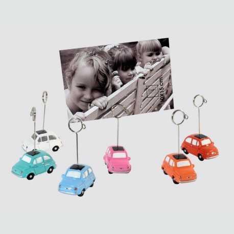 Lot de 6 clips porte photo Fiat 500