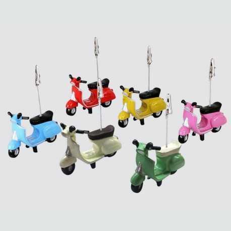 6 clips porte-photo en forme de scooter