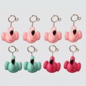 Set of 8 clips of pink and blue flamingos