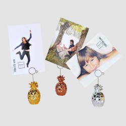 lot de 6 clips ananas porte photo, menu