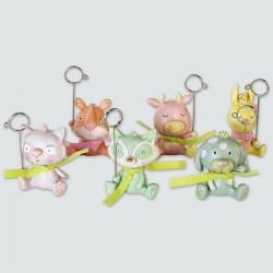 set de 6 clips animaux couleurs pastels
