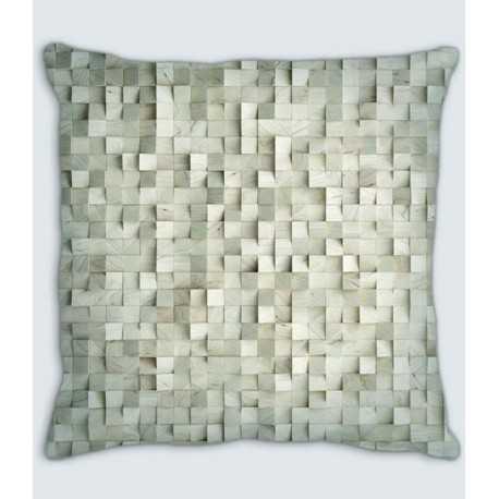 Coussin cube ivoire lin