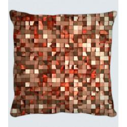 Coussin motif cubes soyeux