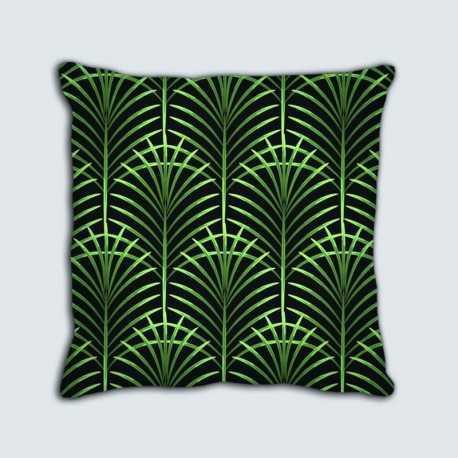 2 Coussins motif : Art déco Palmes