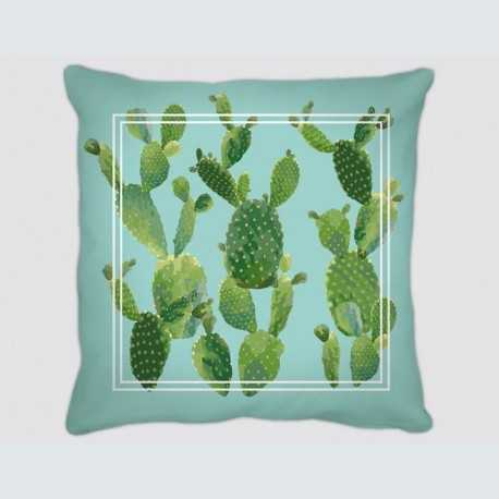 Coussin motif : Vert Cactus