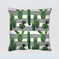 Coussin motif : lignes Cactus