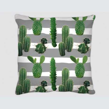 Coussin motif : ligne Cactus