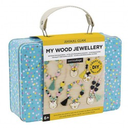 Wood jewellery craft kit