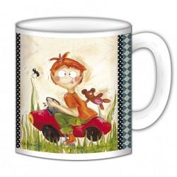 "Mug, ""Gaston en voiture"" de FiFi Bastille"