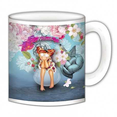 """Mug, """"Fleurs & mer"""" de FiFi Bastille"""