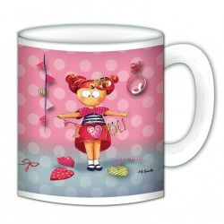 "Mug, ""I love you"" de FiFi Bastille"
