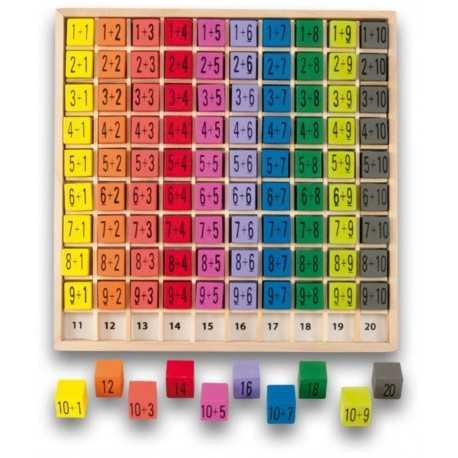 Table de calcul, d'addition, jeu éducatif pour enfant